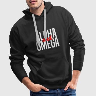 Alpha and Omega Christliches design - Männer Premium Hoodie