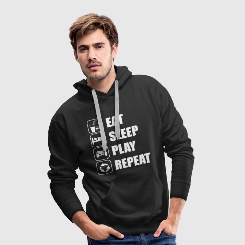 Eat Sleep Play Repeat - Men's Premium Hoodie