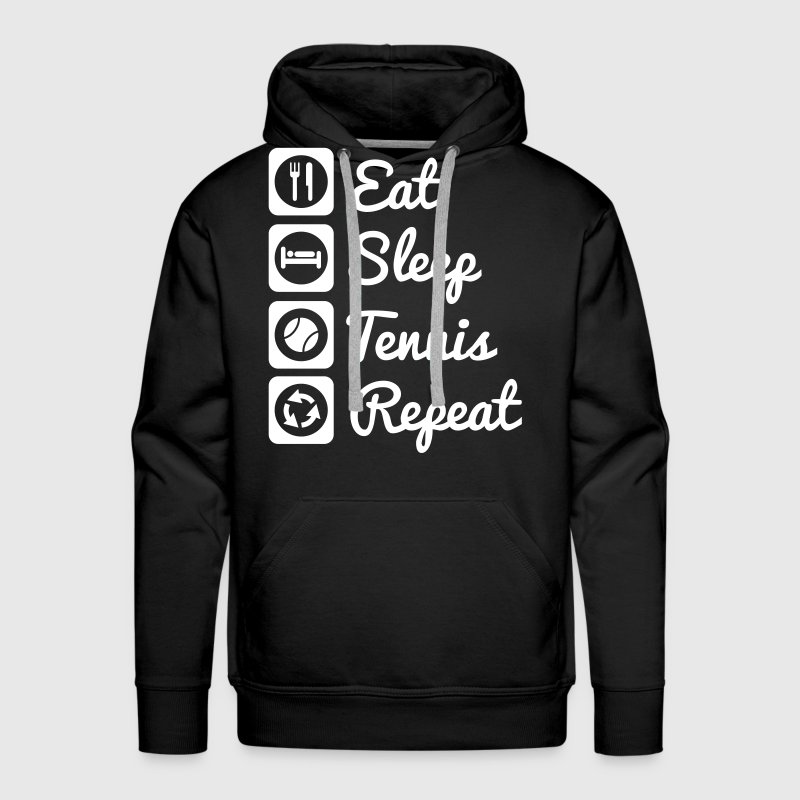 Eat sleep tennis repeat - Men's Premium Hoodie