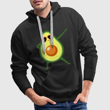 Dabbing Avocado With Heart Sunglasses - Cool Gift - Sweat-shirt à capuche Premium pour hommes