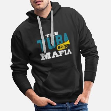 Trial Tuba player brass instrument musician gift - Men's Premium Hoodie