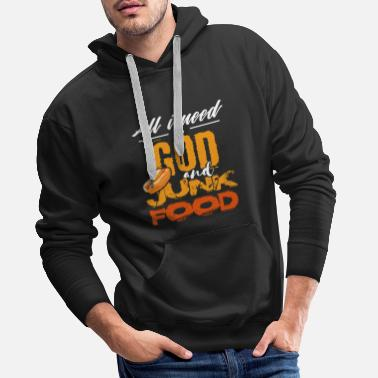 Ketchup Hot Dog Burger Hunger Hamburger Fast Food Geschenk - Männer Premium Hoodie