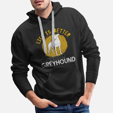 Hunting Dog Hunting greyhound hunting dog hunting dog dog sport - Men's Premium Hoodie