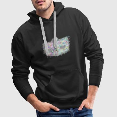 Mascarade Masque de carnaval brillant - Sweat-shirt à capuche Premium pour hommes
