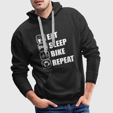 eat,sleep,bike,repeat - Männer Premium Hoodie