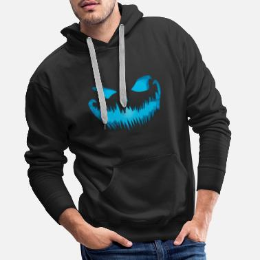 Scary Evil pumpkin face look devil face - Men's Premium Hoodie