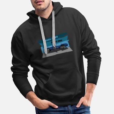 Sports Car real cars - oldschool sports car - Men's Premium Hoodie