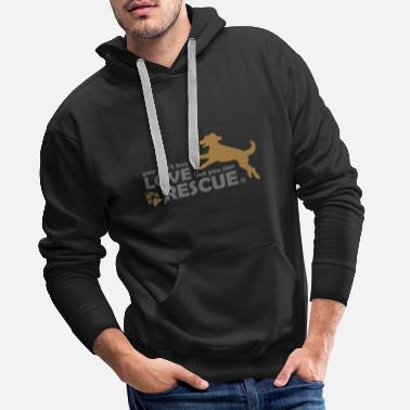 Rescue Dog Dog Dog Rescue - Rescue Dogs - Animal Protection - Men's Premium Hoodie