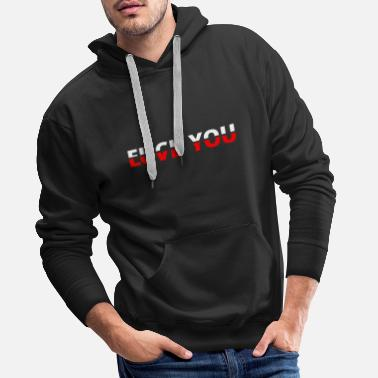 Deadpool Say Fuck you love you Movie Movie Cinema Cinema - Men's Premium Hoodie