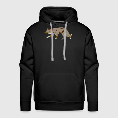 Border Collie (Red Merle Tri) - Men's Premium Hoodie