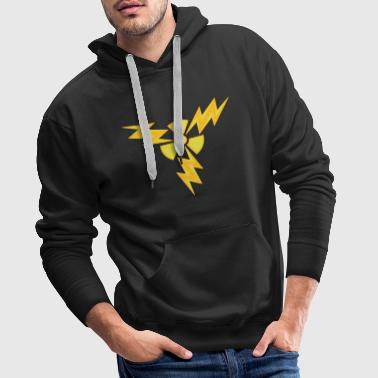 atom radioactive nuclear power electric shock hazard - Men's Premium Hoodie