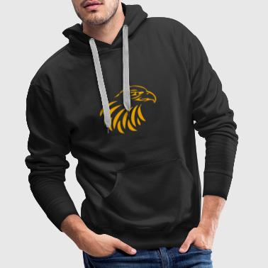 Falcon The eagle head in gold - Men's Premium Hoodie