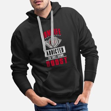 Jdm JDM LIFE - BOOST ADDICTED - clean design - Men's Premium Hoodie