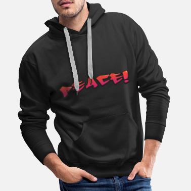 Old School Hip Hop Peace Peace Hip-hop graffiti - Mannen Premium hoodie