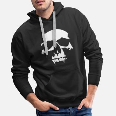 Skull skull, halloween, ghost, nightmare, vampire, horror, evil, devil, death - Men's Premium Hoodie