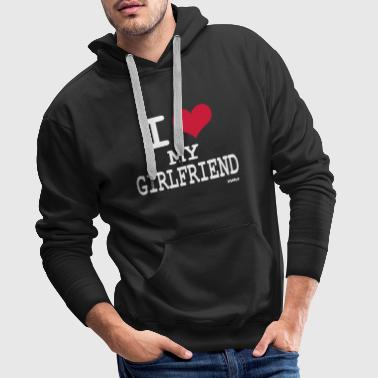 i love my girlfriend by wam - Mannen Premium hoodie