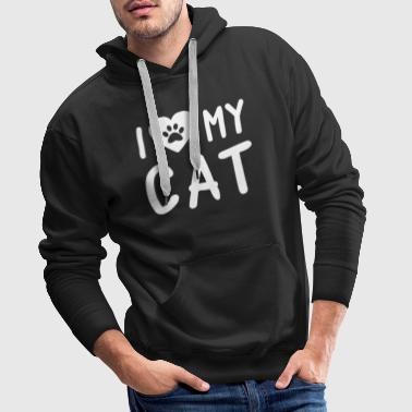 I Love My Cat - Men's Premium Hoodie