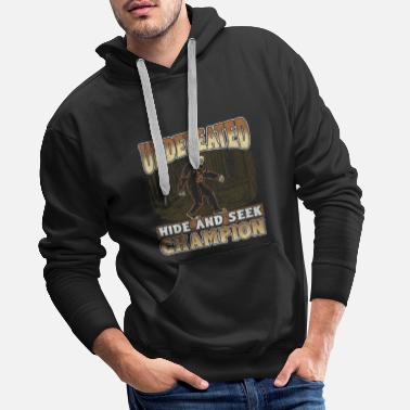 Verstecken Bigfoot Design - Champion für unbesiegte Hide and Seek - Männer Premium Hoodie