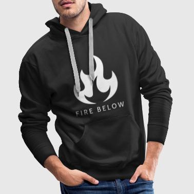 Fire Below EP Design - Wit - Mannen Premium hoodie