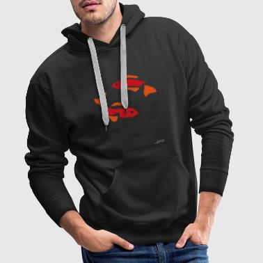 Poisson Rouge Poisson rouge By Joaquín - Sweat-shirt à capuche Premium pour hommes