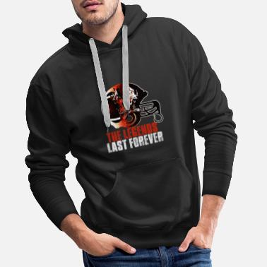 Football Team Football American footballer legend - Men's Premium Hoodie