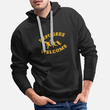 Refugees Welcome Refugees Welcome - Männer Premium Hoodie