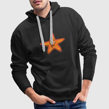Starfish smile orange water gift idea - Men's Premium Hoodie