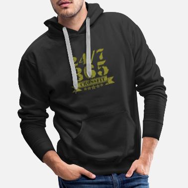 Cross Fit Cross-Fit 24/7 - Sudadera con capucha premium para hombre