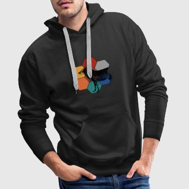 Wolf Design - Conception de carreaux Wolf Animal - Sweat-shirt à capuche Premium pour hommes