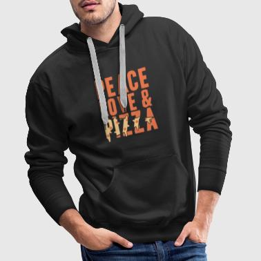 Peace Love and Pizza Gift Christmas - Men's Premium Hoodie