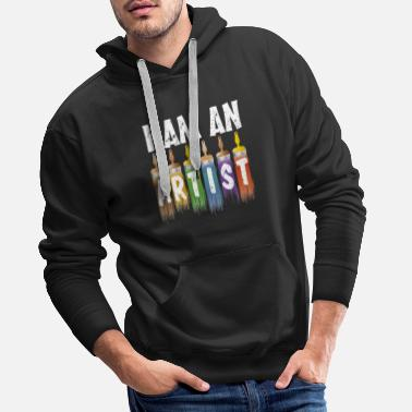 Design for crazy artist funny gift - Men's Premium Hoodie