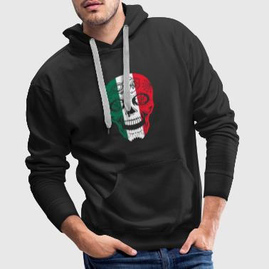 Mexico Flag Sugar Skull Calavera Day Of The Dead - Men's Premium Hoodie
