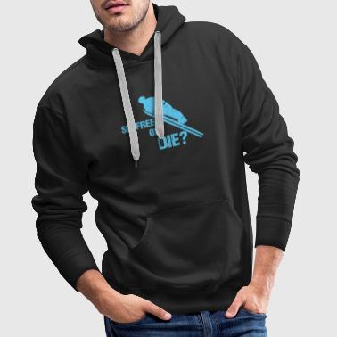 Ski Jumping Ski flying ski jumping - Men's Premium Hoodie