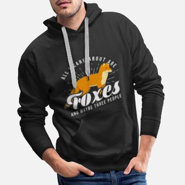 Comics Fox Foxes Animals Cartoon Red Fox Humor Quote - Men's Premium Hoodie
