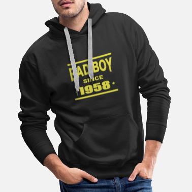 Since Bad boy since 1958 - Felpa con cappuccio premium da uomo