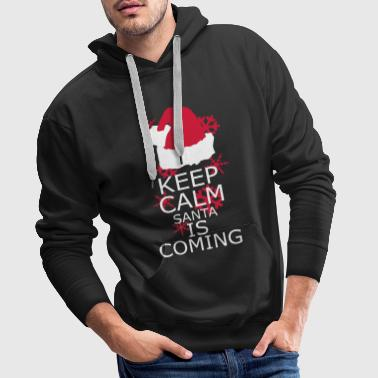 Calm Keep Calm,Santa is coming - Men's Premium Hoodie