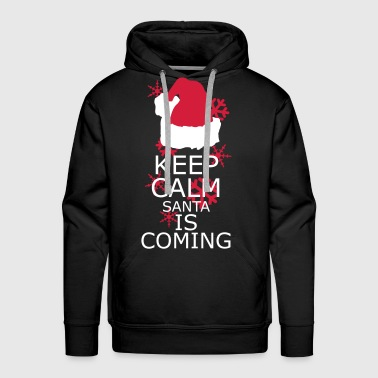 Keep Calm,Santa is coming - Men's Premium Hoodie