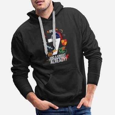 Age 7th Birthday Boy Only 7 And A Knight Already - Men's Premium Hoodie