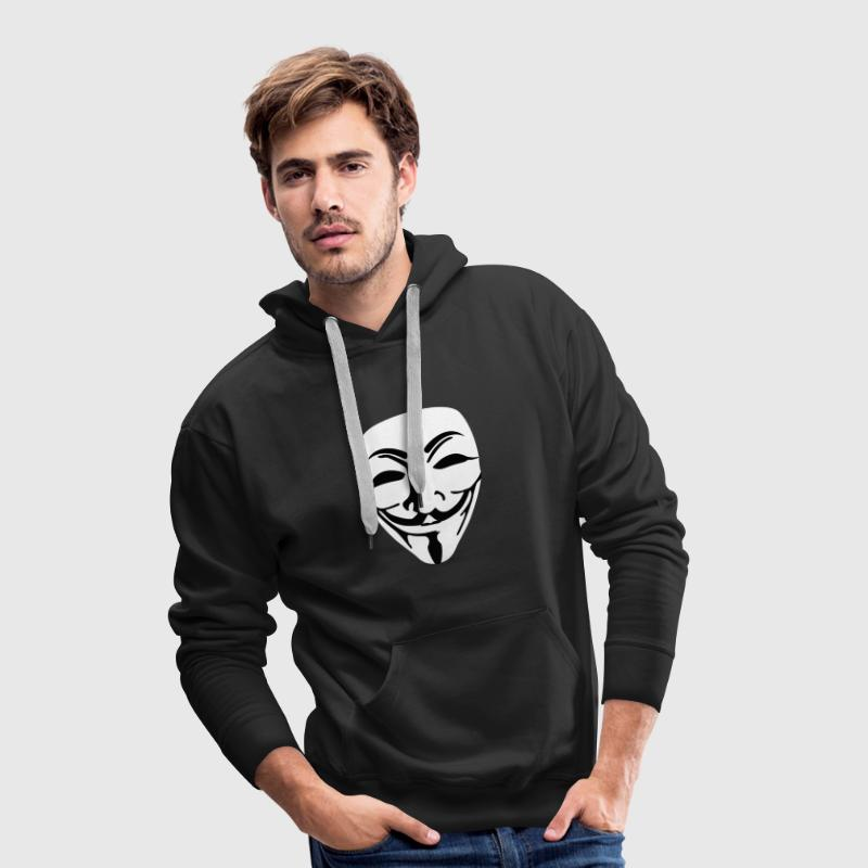 Masque anonymous plein - Sweat-shirt à capuche Premium pour hommes