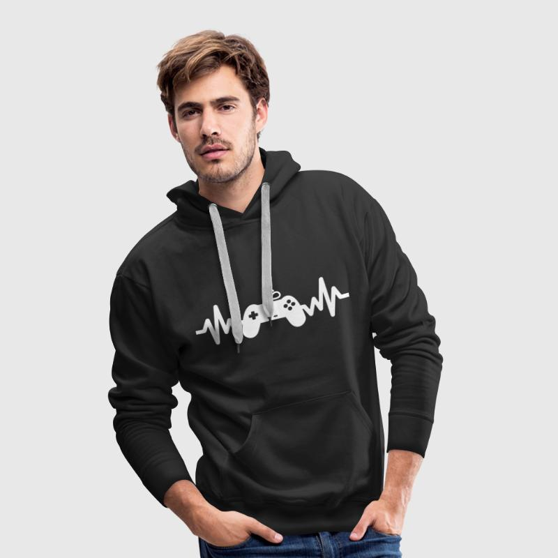 Gaming is life - geek - gamer - nerd - Männer Premium Hoodie
