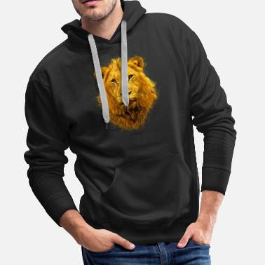 Lion lion head - Men's Premium Hoodie