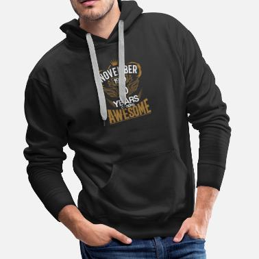 November Born in November 1979 40th Years of Being Awesome - Men's Premium Hoodie
