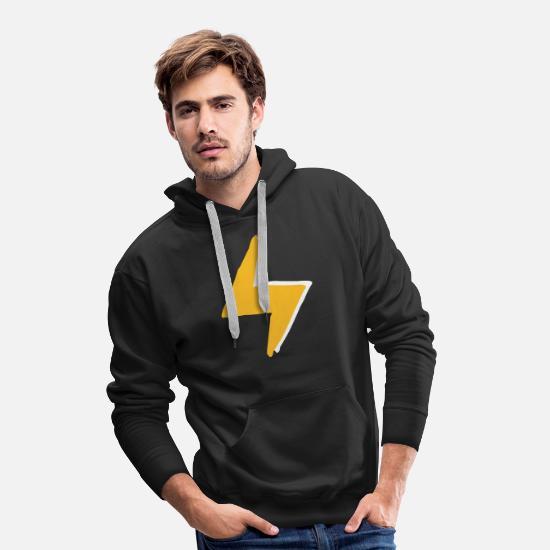 Lightning Hoodies & Sweatshirts - Lightning with super - forces costume - Men's Premium Hoodie black