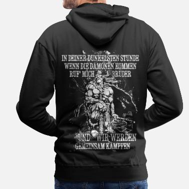 Viking In your darkest hour call me! (bright) - Men's Premium Hoodie