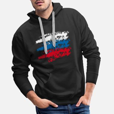 Russian Russia Russia country flag flag National 3c - Men's Premium Hoodie