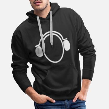 Handset Headphone handset music - Men's Premium Hoodie