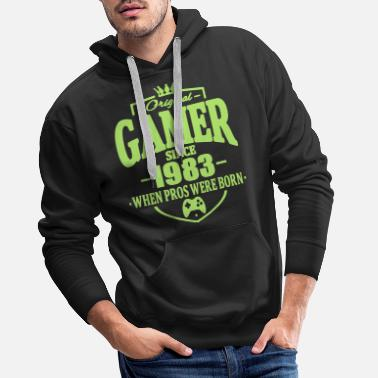Since Gamer since 1983 - Sweat à capuche premium Homme