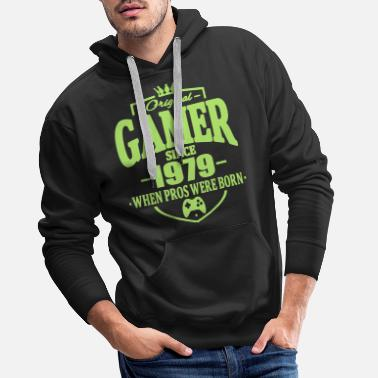Since Gamer since 1979 - Sweat à capuche premium Homme