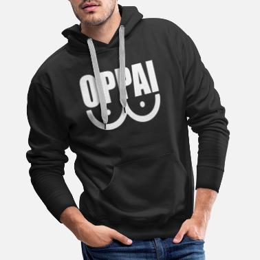 Punch OPPAI One Punch Man Anime - Mannen premium hoodie