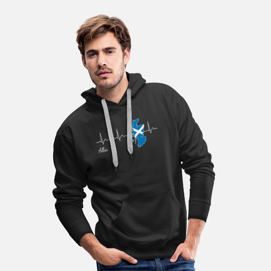 Travel Hoodies & Sweatshirts - Scotland Alba Heartbeat Heartbeat - Men's Premium Hoodie black